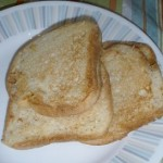 Eggless French Toast on a plate